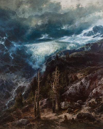 Gletscherlandschaft (Madatscher Gletscher im Hochgewitter?)