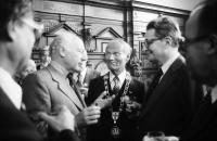 Freiburg: Empfang von Bundespräsident Scheel im Rathaus