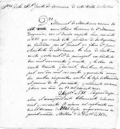 Archivo Agustín Montiano. 10-39 [Recurso electrónico], 1830/12/07