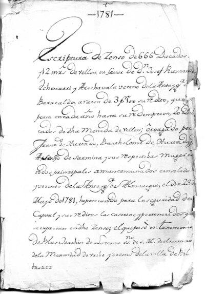 Archivo Agustín Montiano. 11-13 [Recurso electrónico], 1781