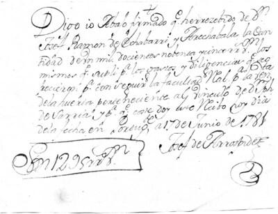 Archivo Agustín Montiano. 11-53 [Recurso electrónico], 1781/06/17