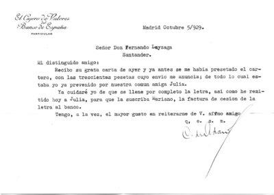 Archivo Agustín Montiano. 11-55 [Recurso electrónico], 1929/10/05