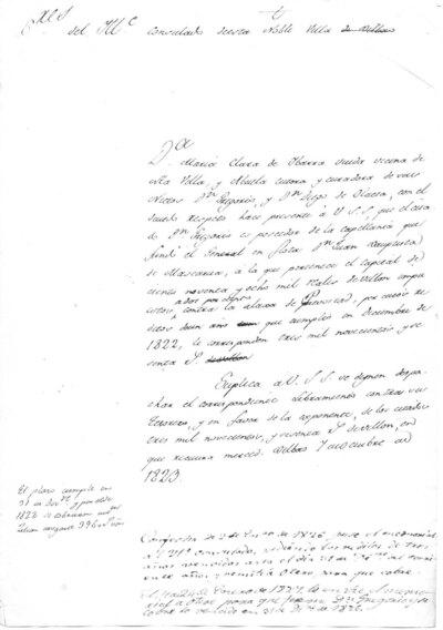 Archivo Agustín Montiano. 12-15 [Recurso electrónico], 1823