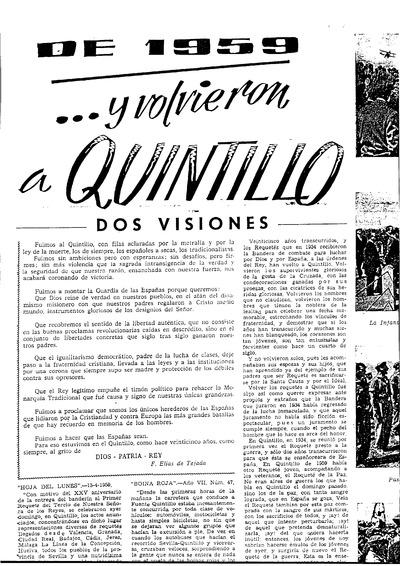 ...Y volvieron a Quintillo : Dos visiones