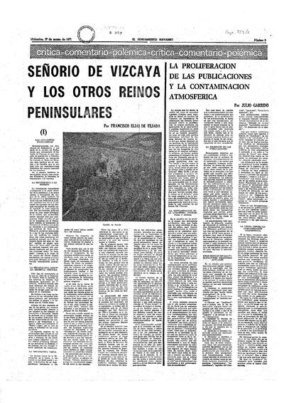 Señorío de Vizcaya y los otros reinos peninsulares, I