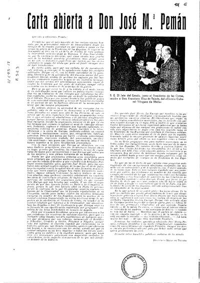 Carta abierta a don José María Pemán