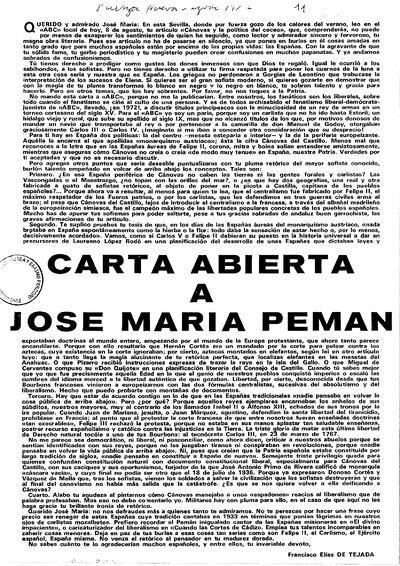 Carta abierta a José María Pemán