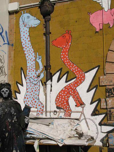 Giraffe in tandem