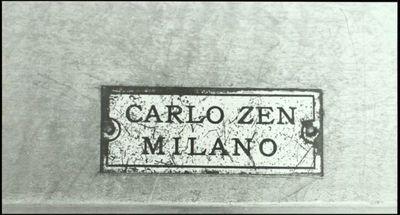 Zen, Carlo  Targhetta