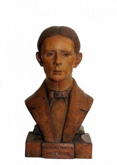 Busto ritratto di Andreas Andersen