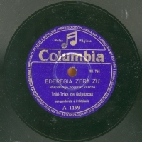 Eder[r]egia zera zu  [Grabación sonora]  : Fandango popular vasco ; Mendi - menditik : Pasacalle, regreso de la romería  / Triki-trixa de Guipúzcoa, pandereta e irrintzilaris