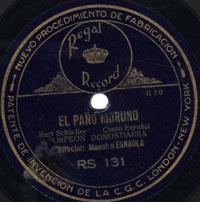 El paño moruno [Grabación sonora] : canto España / Kurt Schindler. No te olvido : zortziko / Villa[r] y Jiménez