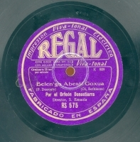 Belen'go abesti goxua  [Grabación sonora]  : (Oi, Bethleem)  / P. Donosty [sic]. Bi euskal abesti = Dos canciones vascas / J. Busca-Sagastizabal