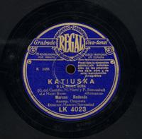 Katiuska o La mujer rusa  [Grabación sonora]  / [texto] G. del Castillo, M. Martí ; y [música] P. Sorozabal