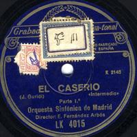 El caserío . Intermedio  [Grabación sonora]  / J. Guridi