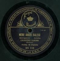 Nere amak baleki  [Grabación sonora]  : zortziko  / Iparraguirre. Zugana goizeko izarra : canto vasco