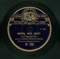 Mariya, nora zuaz?  [Grabación sonora]  : canto popular ; Festara : canto popular vasco  / por los Coros Donostiarras