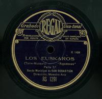 Los euskaros  [Grabación sonora]  : Rigodones  / Torre-Muzquiz