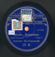 Aires bohemios  [Grabación sonora]  / Pablo Sarasate