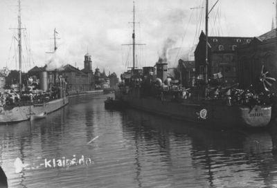 Klaipėda. Sovietų Sąjungos (SSRS) karo laivai Dangės uoste