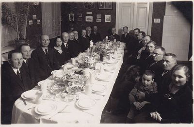 Nuotrauka. Visuomenės ir kultūros veikėjai Iškilmingos vakarienės metu