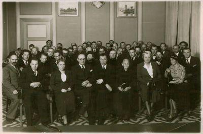 Nuotrauka. Lietuvos rašytojų suvažiavimo dalyviai