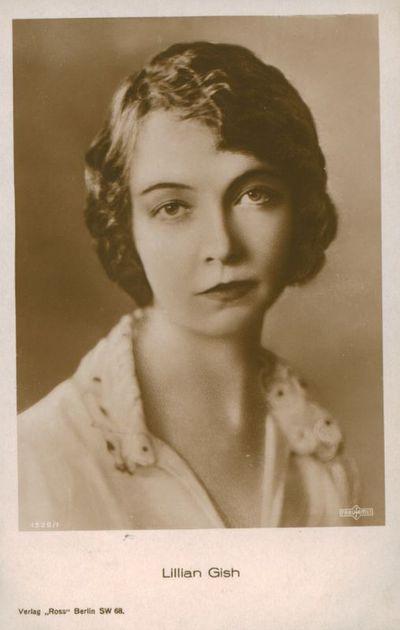 Atvirukas. Aktorė Lillian Gish