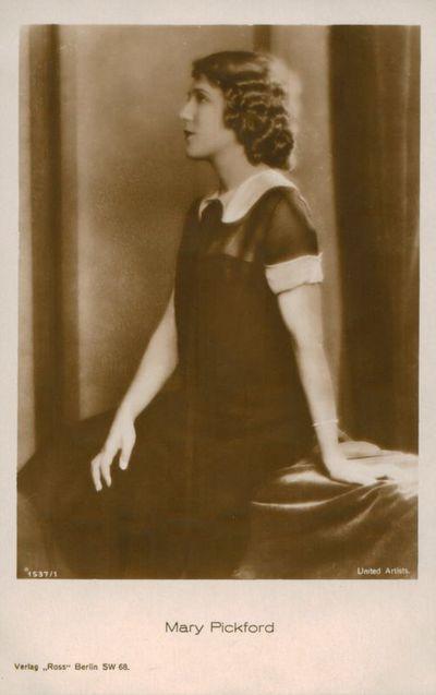 Atvirukas. Aktorė Mary Pickford