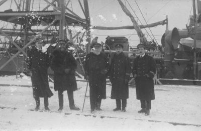 Klaipėda. Prancūzijos karo laivų Voltaire ir Durance vadovybė uoste