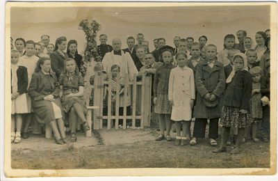 Šilų kaimo žmonės Kryžiaus šventėje