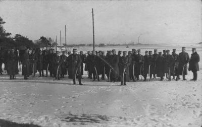 Klaipėdos kareivinėse dislokuoto 7-ojo pėstininkų Žemaičių kunigaikščio Butegeidžio pulko karininkų išvyka į pajūrį