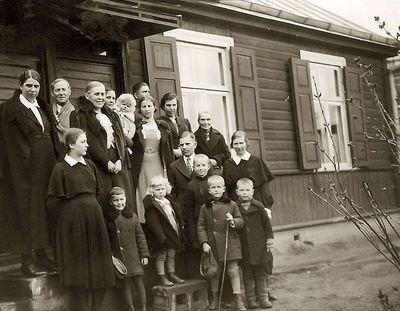 Peseckų antrojo vaiko krikštynos. Kaunas, 1936 metai