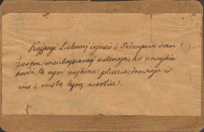 Simono Daukanto rankraščio kopija.