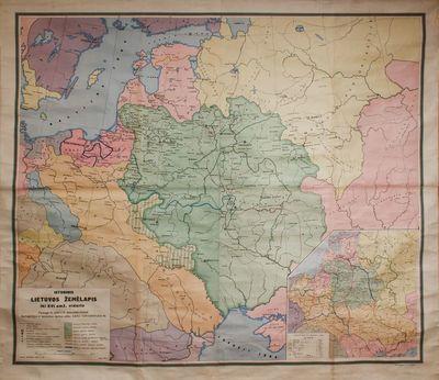Istorinis Lietuvos žemėlapis iki XVI a. vidurio