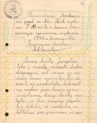 Lietuvių kalbos rašomasis darbas