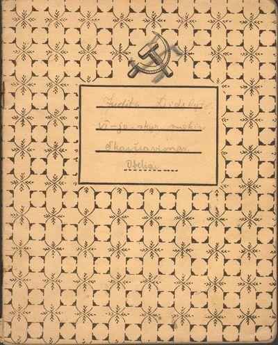 Okupantų simbolių samplaikos moksleivio sąsiuvinis