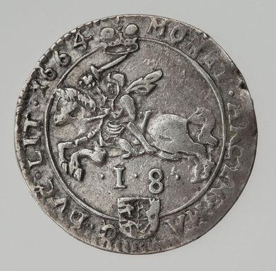 Moneta. Ortas. Jonas Kazimieras (1648–1668). LDK