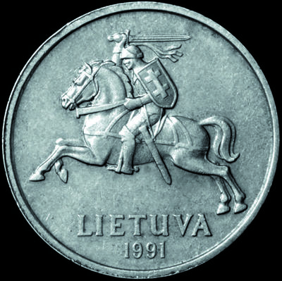 Moneta. 2 litai. Lietuva