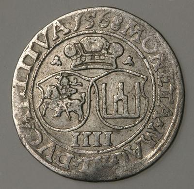 Moneta. Keturgrašis. Žygimantas Augustas (1544–1572). LDK
