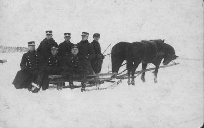 7-ojo pėstininkų Žemaičių kunigaikščio Butegeidžio pulko karininkų išvyka rogėmis po Klaipėdos apylinkes