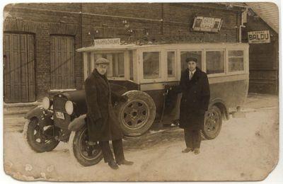 Autobusas Marijampolėje 1925 m.