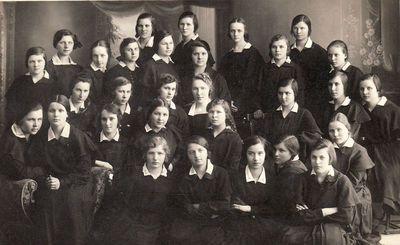 Grupė Panevėžio mokytojų seminarijos seminarisčių. Apie 1929 m.
