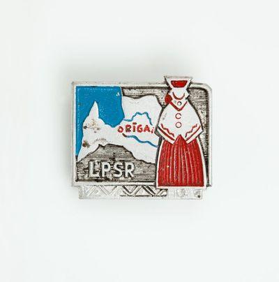 """Ženklelis """"LPRS (Latvijos Tarybų Socialistinė Respublika)"""