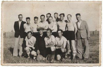 """Marijampolės žydų futbolo komanda """"Makabi"""". 1929 m."""