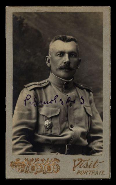 Nežinomo vyro portretas su įrašu P. Smolskis