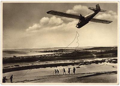 Segelflugstart auf der Düne (Sklandytuvas startuoja nuo kopos)