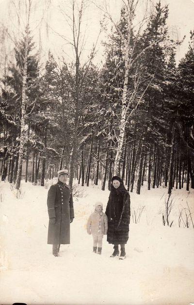 Boleslovas Žitkevičius su žmona Elžbieta ir sūnumi Alfredu