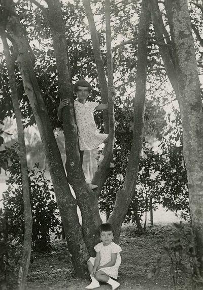 Šlapelių anūkės Laimutė ir Nijolė Romoje