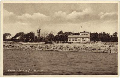 """Memel – Blick auf Strandvilla (Klaipėda. Vaizdas į """"Strandvilla"""")"""