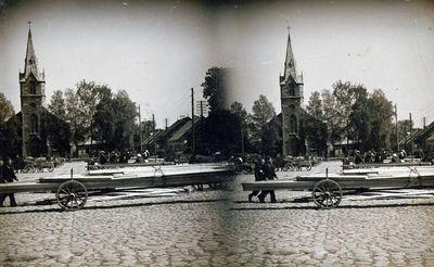 Kretingos miesto Viešosios aikštės pietinė dalis
